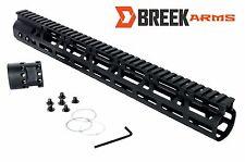 15 Inch Handguard 11.2 oz Ultra Light Weight Slim M LOK Free Float Rail by Breek