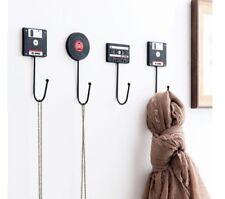 Retro Wall-mounted Cassette Tape 11.5 cm Door Hook Hanger Key Towel Bathroom