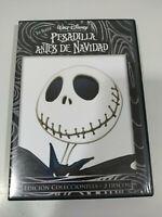 Pesadilla Antes de Navidad Tim Burton Edicion Coleccionista - 2 x DVD - 3T