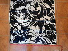 Madonna H&M silk 34x34 scarf black & white flower Mb