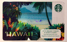 RARE OOP (1) 2014 NEW MINT STARBUCKS HAWAII DIAMOND HEAD HOLOGRAM PARADISE CARD