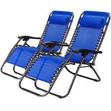 Zero Gravity Chairs Case Of 2 New Lounge Patio Chairs Outdoor Beach Yard Navy