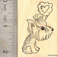 Yorkie Love Rubber Stamp, Yorkshire Terrier Valentine's Day G15905 WM