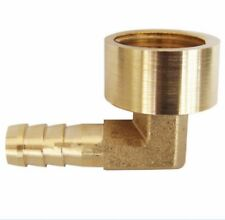 "14mm Brass Elbow Hose Barb Tail 1/2"" Female BSP Thread Fitting Connector Adaptor"