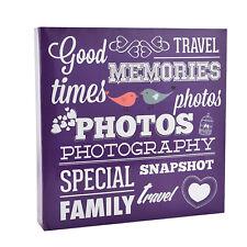 Large Purple Slip in Ring Binder Travel Memories 6'x4' 500 Photos Album AL-9574