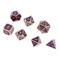 7x Quality Polyhedral Dice D4-D20 TRPG Toy for Dungeons & Dragons Purple B