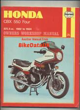 Honda CBX550 Four (1982-1984) Haynes Service Repair Manual CBX 550 F F2 FII BS64