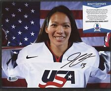 Julie Chu Signed 8x10 Photo Beckett BAS COA AUTO Autograph 1