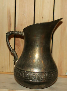 Vintage Italian Vera Lucino silver plated pitcher jug