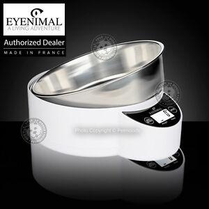 Eyenimal Intelligent Pet XL Bowl Integrated Scale Dog Cat 1.8lbs Food-Liquids