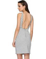 Black By Geng Striped  Dress,Black and White  Dress, Sleeveless dress. Size 14