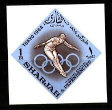 WORLDWIDE  OLYMPICS  1964  SHARJAH   SOUVENIR LIST, LOT  # 20 B