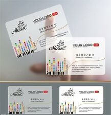Plastic transparent 200 PVC BC one faced printing-clear card matte faces