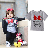 Cotton Infant Baby Boys Girls Letter Print Tops Summer Tee T-shirt Short Sleeve