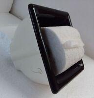 Recessed Black Ceramic Toilet Paper TP Holder Mid Century Modern Vintage Retro