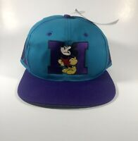 Vintage Mickey Mouse Disney SnapBack Hat Cap Adult Rare 90's 80's Embroidered