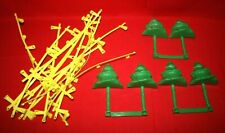 Lot of 19 Artin Car Track Parts - Guard Rails Evergreen Trees