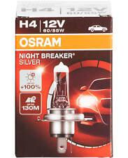1X H4 12V Osram Night Breaker Silver Scheinwerfer Lampen Halogen Birne 55W +100%