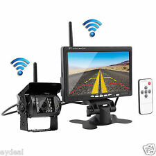 "7"" TFT-LCD Monitor+Night Vision Reversing Camera Wireless IR Car Rear View Kit"