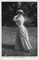 POSTCARD  ACTRESSES -  MARIE STUDHOLME - PLAYING GOLF