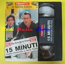 film VHS cartonata 15 MINUTI Follia omicida a new york L'ESPRESSO (F21) no dvd