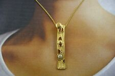 "Scottish Ola Gorie 9ct Yellow & 9ct White Gold Flow Pendant 16"" Chain"