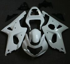 Unpainted White Fairing Kit for Suzuki GSXR1000 2000-2002 ABS Injection Mold US