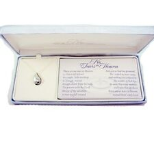 No Tears In Heaven Memorial Necklace- Silver Plated on 18 Inch Chain by Dicksons