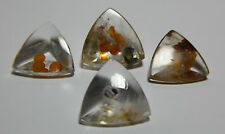 Included Quartz Pirite, Hematite rare color 61.47ct  Brazil, triangle shape