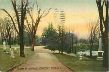 A Tranquil View in Oakwood Cemetery, Troy NY 1910