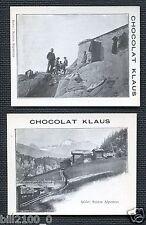 CHOCOLAT KLAUS ........SCENES ALPESTRE ....2 IMAGES ...PUB...SUISSE