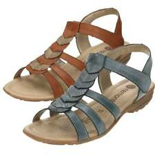 Remonte Gladiator Touch Fastening Wedge Sandals R3658 Wedge Slip On Strap Shoes