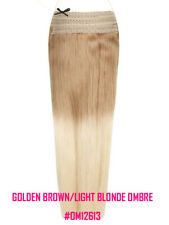 """Halo 20"""" Straight One Piece 100% Remy Human Hair Extensions #12613 Ombre"""