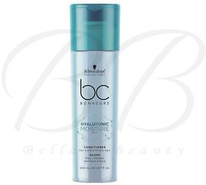 SCHWARZKOPF BC Bonacure Hyaluronic Moisture Kick Hair Conditioner 200ml *NEW*