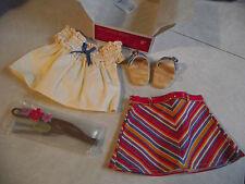 American Girl Julie's Summer Skirt Set Complete Headband Shoes Shirt -NEW