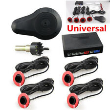 Car Kit Parking Aid Parktronic 4Black 13mm Flat Sensor Backup Radar Sound Buzzer