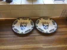 More details for royal stafford skulls queen dessert/salad plates.x2 .new.halloween.