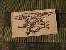SNAKE PATCH -  US - NAVY SEAL - TAN / sable - airsoft MARINE commando DELTA ACU
