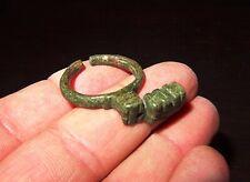 RARE BAGUE CLÉ ROMAINE EN BRONZE - 100/200 AD - ANCIENT ROMAN BRONZE KEY RING