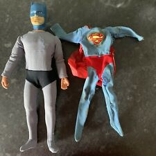 """Mego 12"""" Batman Action Figure and Superman 12"""" spares or repairs Costume"""