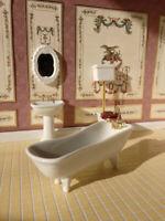 1/12 Scale Dolls House Emporium White Classic Ceramic Bathroom Set, 4 pcs 1751