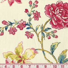 Williamsburg Pondicherry Jewel Asian Inspired Floral Print Drapery Fabric BTY