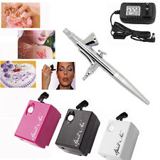 AirBrush Compressor Air brush Kit 0.4mm 2cc Spray Tattoo Nail Art Paint Gun Mini