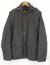 GAP M Fishtail Parka Charcoal Gray Jacket Coat Hooded Zip Pack Away Hood Snap