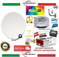 KIT SATELLITE: PARABOLA 60 CM +LNB 4 USCITE + 20 METRI CAVO + SAT FINDER+STAFFA