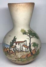 Petit Vase En Céramique Basque Signé CAZALAS H 15,5 D 11 Cm