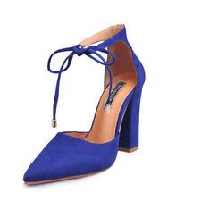 Womens Block High Heels Sandals Peep Toe Ankle Strap Pumps Shoes Size 6.5-10.5