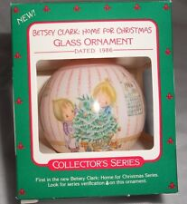 Vintage 1986 Betsey Clark Home For Christmas Glass Ball Mib #Qx2776 w Xmas Tin