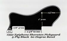 Sheraton 1992 5-Ply Black Pickguard W/Bracket made for Epiphone Project 60 Deg