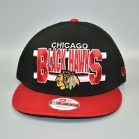 Chicago Blackhawks New Era 9FIFTY NHL Hockey Split Bar Snapback Cap Hat